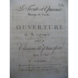 TARCHI Angelo Le Trente et Quarante Ouverture Clavecin ou Piano 1799