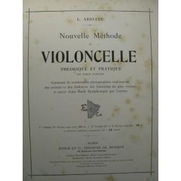 ABBIATE Louis Nouvelle Méthode de Violoncelle 1900