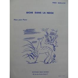 BARLOW Fred Biche dans la Neige Piano 1964