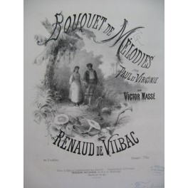 DE VILBAC Renaud Bouquet de Mélodies Piano XIXe siècle