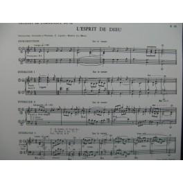 LEJEUNE-BONNIER Eliane L'Esprit de Dieu Orgue 1970