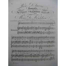 BOIELDIEU Adrien Le Petit Chaperon Rouge Rose d'Amour Chant Piano ca1820