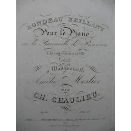 CHAULIEU Charles Rondeau Brillant Piano ca1825