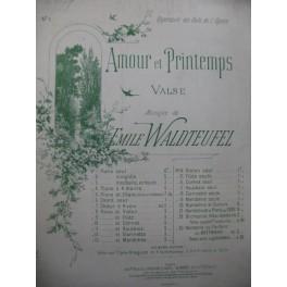 WALDTEUFEL Emile Amour et Printemps Piano ca1895
