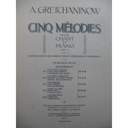 GRETCHANINOFF Alexandre Berceuse Piano Chant 1912