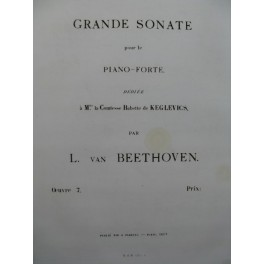 BEETHOVEN Sonate op 7 Piano 1863