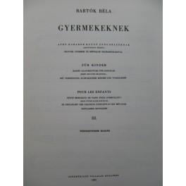 BARTOK Béla Gyermekeknek für Kinder III Piano 1965