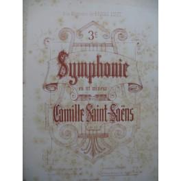 SAINT-SAËNS Camille 3e Symphonie 2 Pianos 4 mains 1887