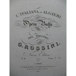 ROSSINI G. L'Italiana in Algieri No 4 Chant Piano ca1820