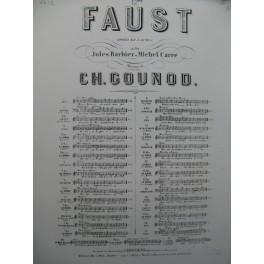 GOUNOD Charles Faust No 12bis Choeur des Soldats Piano Chant XIXe