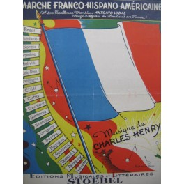 CHARLES HENRY Marche Franco Hispano Américaine Piano 1948