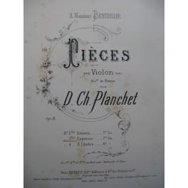 PLANCHET D. Ch. Capriccio Violon Piano 1887