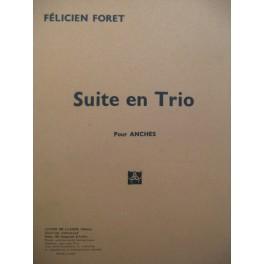 FORET Félicien Suite en Trio Clarinette Hautbois Basson 1953