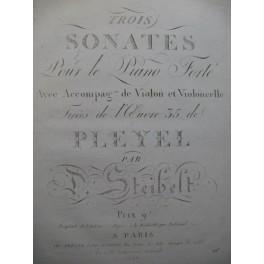 STEIBELT Daniel Trois Sonates op 35 Violon ca1805