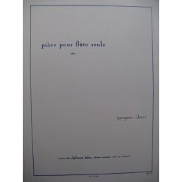 IBERT Jacques Pièce pour Flûte seule