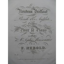 HEROLD Ferdinand Rondeau Brillant Piano ca1830