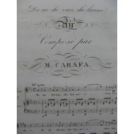CARAFA Michele Da me che vuoi che brami Chant Piano XIXe