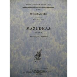 WIENIAWSKI Henri Mazurkas op 12 & 19 Piano Violon 1950
