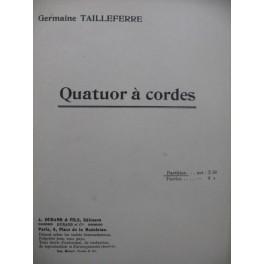 TAILLEFERRE Germaine Quatuor à cordes 1921