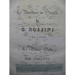 ROSSINI G. Le Barbier de Séville Piano solo ca1820