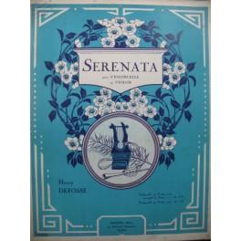 DEFOSSE Henry Serenata Piano Violon ou Violoncelle 1931