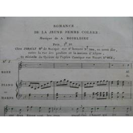 BOIELDIEU Adrien La Jeune Femme Colère No 5 Romance Chant Piano ou Harpe 1805