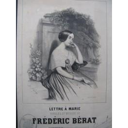 BÉRAT Frédéric Lettre à Marie Chant Guitare ca1840