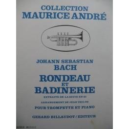 BACH J. S. Rondeau et Badinerie Piano Trompette 1972