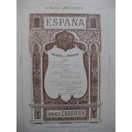 CHABRIER Emmanuel Espana 2 Pianos 4 mains ca1883