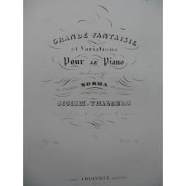 THALBERG Sigism Grande Fantaisie et Variations Piano ca1842