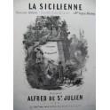 DE Saint JULIEN Alfred La Sicilienne Piano 1852