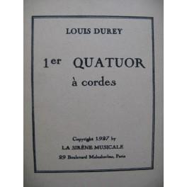DUREY Louis Quatuor à cordes No 1 1927