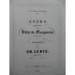 LENTZ CH. Rondo Brillant Piano ca1855