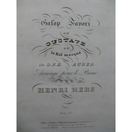 HERZ Henri Galop Favori Piano XIXe siècle
