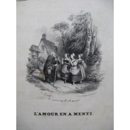 PANSERON Auguste L'Amour en a menti Chant Guitare ca1830