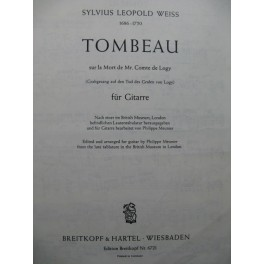 WEISS Silvius Leopold Tombeau Guitare