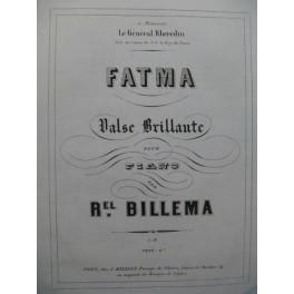 BILLEMA Raphael Fatma Piano XIXe siècle