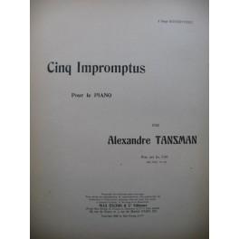 TANSMAN Alexandre Cinq Impromptus Piano 1926