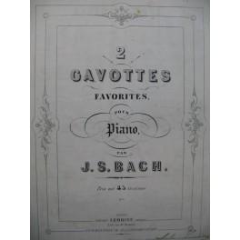 J. S. BACH 2 Gavottes Piano ca1860