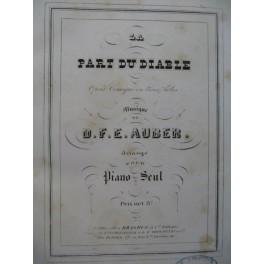 AUBER D. F. E. La Part du Diable Opéra Piano solo ca1850