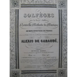 DE GARAUDÉ Alexis Solfèges Méthode de Musique XIXe