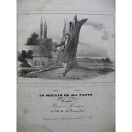 DE BEAUPLAN Amédée Le Moulin de ma Tante Chant Guitare ca1830