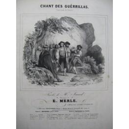 MERLE E. Chant des Guérillas Chant Piano ca1830