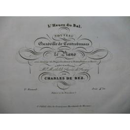 DE BEZ Charles L'Heure du Bal Piano XIXe siècle