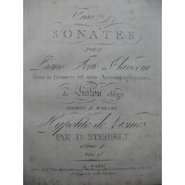 STEIBELT Daniel Trois Sonates op 4 Clavecin ou Piano Violon ca1800