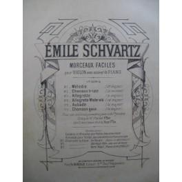 SCHVARTZ Emile Chanson Triste Violon Piano