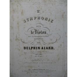 ALARD Delphin Symphonie No 2 Violon Piano ca1850