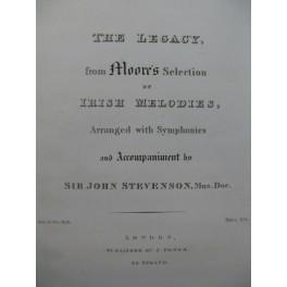 STEVENSON John The Legacy Irish Melodies Chant Piano XIXe