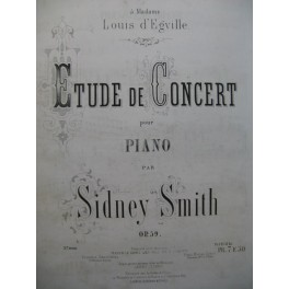 SMITH Sidney Etude de Concert Piano ca1868
