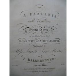 KALKBRENNER F. A Fantasia Piano ca1830